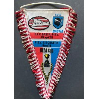 Ancien Fanion PSV EINDHOVEN - SECB BASTIA FINALE 78