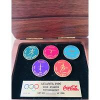 Coffret PIN'S Jeux olympiques d'été de 1996 numero 55 (Coca Cola)