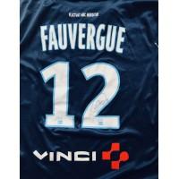 Maillot PARIS FC porté signé N°12 LFP FAUVERGUE Ligue 2 taille L