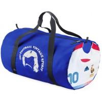 LE FOOTBAGG EQUIPE DE FRANCE N°10 ZIDANE Blanc  sac de Sport Bleu (BA76)