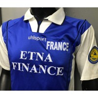 Maillot equipe FRANCE BEACH Soccer LEAGUE porté N°2 SQUAGLIA taille L uhlsport