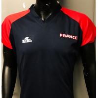Maillot equipe FRANCE BEACH Soccer LEAGUE porté N°2 SQUAGLIA