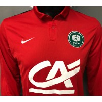 Maillot Coupe Gambardella FFF porté N°13 Nike taille L Rouge