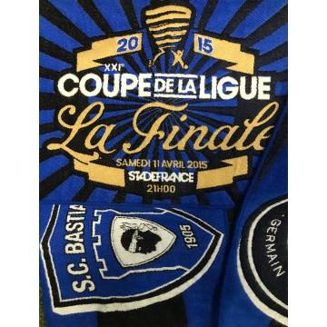 Echarpe SCB BASTIA / PSG PARIS Finale Coupe de la Ligue 2015