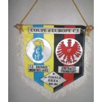 Fanion 8ème finale U.E.F.A 80/81 FC Sochaux / Eintracht Frankfur