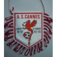 Fanion A.S.CANNES Coupes d&#39Europe 91/92 94/95