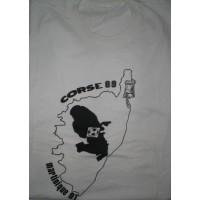 Tee shirt évènementiel Jumelage CORSE 89 - Martinique 91 taille