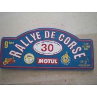 Ancienne Plaque émaillée RALLYE DE CORSE 2002