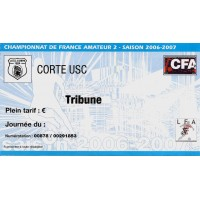 Billet entrée CFA2 U.S.C.CORTE saison 2006-2007