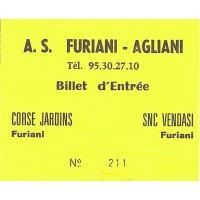 Billet entrée DH CORSE A.S.FURIANI-AGLIANI année 90