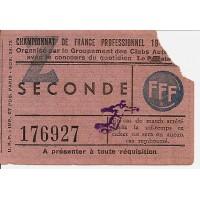 Billet 4ème Journée saison 48-49 Racing Club PARIS - REIMS