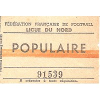 Billet F.F.F Ligue du Nord rencontre du 04/09/1949