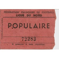 Billet F.F.F Ligue du Nord rencontre du 27/11/1949
