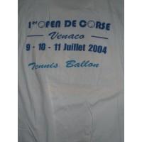 Tee shirt 1ère Open de CORSE de Tennis-ballon Venaco Taille L