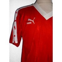 Maillot PUMA ancien taille L rouge