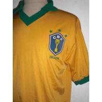 Ancien Maillot Brasil CBF 3 étoiles taille 5 (XL) année 70/80