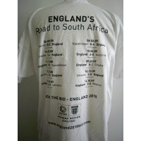 Tee shirt ENGLAND&#39S Road to south Africa taille XXL