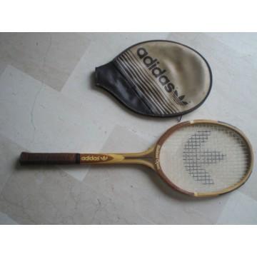 Raquette de tennis en bois Adidas Ilie Nastase Open
