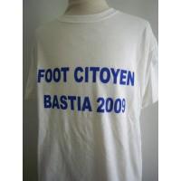 Tee shirt FOOT CITOYEN BASTIA 2009 Taille L