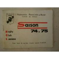 Ancienne Brochure Rugby Club Lucciana saison 74-75