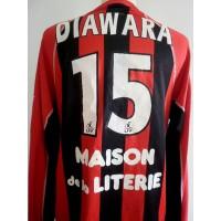 Maillot OGC NICE porté DIAWARA N°15 LFP saison 2002-03