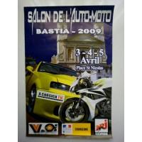 Affiche Salon Auto-moto BASTIA 2009 Place st Nicolas
