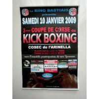 Affiche 3ème Coupe de CORSE de KICK BOXING 2009