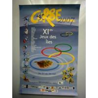 Affiche XI es JEUX DES ILES CORSE 2007