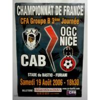 Affiche CAB Bastia/OGC Nice Championnat de FRANCE CFA 2006