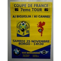 Affiche Coupe de FRANCE 7° Tour AJB Biguglia/AS Cannes 2006
