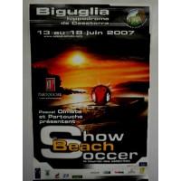 Affiche Show Beach Soccer Le tournoi des célébrités 2007