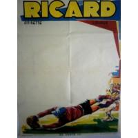 Ancienne Affiche FOOTBALL RICARD  Tournoi des années 70