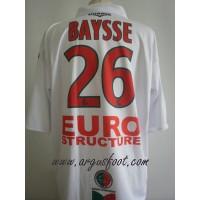 Maillot porté Paul BAYSSE N°26 LFP BASTIA/SEDAN 2007/08