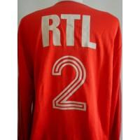 Ancien Maillot ADIDAS RTL Coupe de France porté N°2 année 70