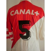 Ancien Maillot AS MONACO porté N°5 ADIDAS TAMOIL Taille M