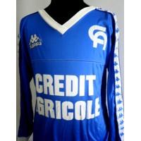 Maillot AUXERRE porté PRUNIER N°3 Coupe Gambardella 1986
