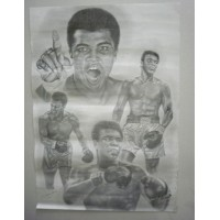 Affiche BOXE Cassius Clay / Mohamed Ali‎