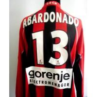 Maillot porté OGC NICE  ABARDONADO N°13LFP saison 2003-2004