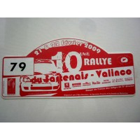 Ancienne Plaque 10ème RALLYE du SARTENAIS-VALINCO N°79