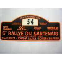 Ancienne Plaque 5ème RALLYE DU SARTENAIS 2004 N°54