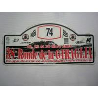 Ancienne Plaque 38ème RONDE DE LA GIRAGLIA 2008 N°74