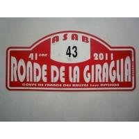 Ancienne Plaque 41ème RONDE DE LA GIRAGLIA 2011 N°43