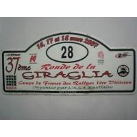 Ancienne Plaque 37ème RONDE DE LA GIRAGLIA 2007 N°28