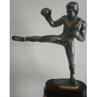 Trophée COMBAT taille 30cm Boxe Française