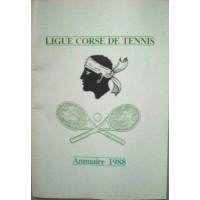 Annuaire LIGUE CORSE DE TENNIS 1988