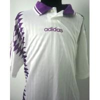 Maillot ancien ADIDAS Taille XL Blanc et bandes violettes