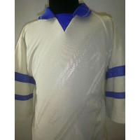Maillot Ancien ROMBO Taille M Occasion Blanc/Bleu