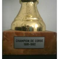 Ancienne Coupe CHAMPION DE CORSE JEUNE 1991-1992
