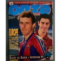 ONZE Mondial Mars 1997 Blanc au Barça Interview Pires