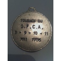 Ancienne médaille Tournoi G.F.C.A Mai 1986 Ajaccio